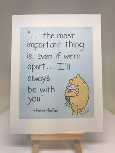 winnie the pooh quotes classic winnie the pooh the most important thing quote card, classic pooh Ill always be with you card, pooh expression card by MoonbeamsBearDreams on Etsy Winnie The Pooh Tattoos, Winnie The Pooh Quotes, Disney Winnie The Pooh, Piglet Quotes, Winnie The Pooh Drawing, Winnie The Pooh Friends, Baby Card Quotes, Motivational Quotes, Inspirational Quotes