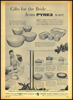 1956 Vintage Ad for Pyrex Kitchen Ware 1181
