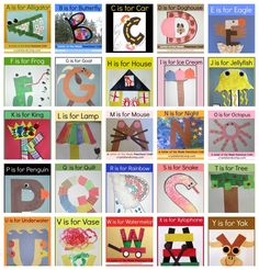 letter of the week crafts for preschoolers A-Z