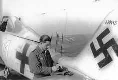 Oberleutnant Fritz Krause and his Fw-190A-6/R-11 of 1./NJGr10 (White 11) W.Nr.550143 This aircraft equipped with FuG 218 Neptun J3AI and 300 lt.