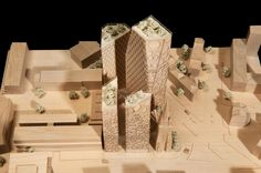 This project for Christian charity Oasis is a mixed-use building containing residential accommodation alongside the charity's parliament, conference facilities for 1000 delegates, public spaces, a library, and office accommodation. Christian Charities, Conference Facilities, Architecture Models, Oasis, Architects, Centre, Projects, Model Building, Building Homes