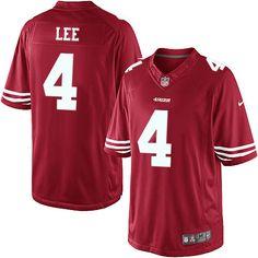 men nike san francisco 49ers 4 andy lee limited red team color nfl jersey sale