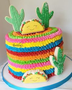 Mexican Birthday Parties, Mexican Fiesta Party, 2nd Birthday Party Themes, Fiesta Theme Party, Themed Birthday Cakes, First Birthday Cakes, Birthday Cake Girls, First Birthday Parties, First Birthdays