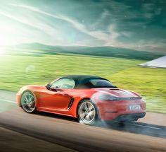 Porsche Boxster 718 /_InfoAutomotive Photographer, Olgun Kordal and Automotive Retoucher, Amar Kakadworked in collaboration to create a 3 piece camapign for the Porsche Boxster 718, shot in Silverstone, UK._Client _ Porsche Boxster, UKPhotograph…