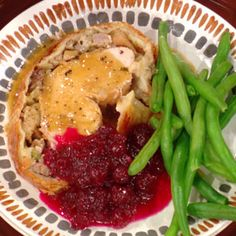 Turkey Breast in Blankets.  This is a great recipe if you don't have a crowd for the holiday.  You still have turkey, but it cooks quickly and it's an elegant meal.