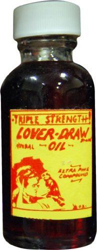 High Quality Triple Strength Love Draw Voodoo Oil 1 oz. by Madame Yayas. $11.99. Used to bring love into your life. Triple Strength Quality for three times the potency. Home fragrance oil to be used in oil burners, for anointing, and in the bath. Disclaimer: Our products and their components are passed down through a long history of believers in Ritualistic and Spiritual practices with no natural proof. They are used by many believers of varying ritualistic arts ...