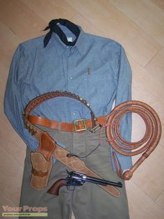 "Gunbelt and Holster worn by Clint Eastwood as the Stranger in ""High Plains Drifter"""