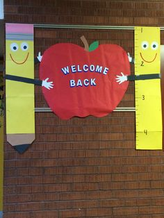 Welcome Back to School bulletin board.                                                                                                                                                     More