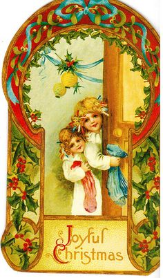 Postcrossing US-1974014 - Vintage Victorian Christmas card, sent to Postcrosser in Germany.