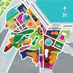 Mapa para @revista_in de mayo. El destino es Valparaíso :) | por Meet The Chumbeques