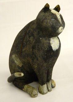 Early Wooden Folk Art Cat