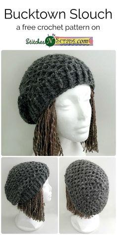Bucktown Slouch - a free crochet pattern on StitchesNScraps.com