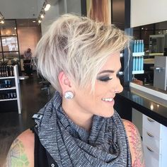 """nice Jess Mosby on Instagram: """"My beautiful friend @lyndee_hairlove_marie let me cut her hair into the cutest platinum pixie! Pretty obsessed . Color by my love…"""""""