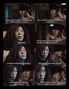 #Healer lol his reaction! Plus he didn't exactly deny it...