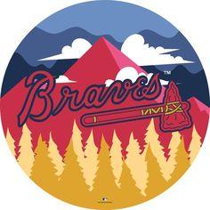 Brave Wallpaper, Atlanta Braves Logo, Shop Fans, Mdf Wood, New England Patriots, Artsy, Display, Wall Art, Broncos