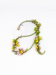 Alphabet from Natural flowers !!! <3 this very much!