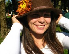Womens Handmade Felted Hat-112 Felted Knitted by DebbiesDesign