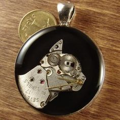 Steampunk cat of watch parts  handmade pendant by TRYB on Etsy, zł80.00
