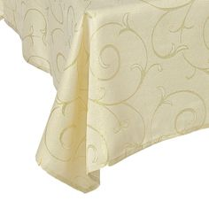 Gold Swirl Dining Tablecloths --- Quick Info: Price £12.00 Dine in style with our classic gold tablecloth featuring shimmering swirls.  --- Available from Roman at Home. Images Copyright www.romanathome.com