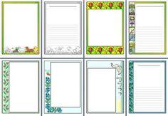 Free Spring border printables