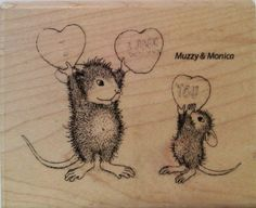 """NEW! HOUSE MOUSE by STAMPENDOUS """"Love You Candy"""" Wood Mounted Rubber Stamp #Stampendous"""