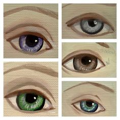 Drawing Step By Step How to paint eyes color collage - Free Painting Tutorial : How to Paint Beautiful Eyes in 11 easy steps. Doll Painting, Painting & Drawing, Drawing Step, Doll Face Paint, Color Collage, Doll Tutorial, Eye Tutorial, Paperclay, Doll Eyes