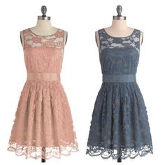 light pink & blue lace dresses by mod cloth Petersen Vintage Dresses, Nice Dresses, Vintage Outfits, Girls Dresses, Vintage Fashion, Summer Dresses, Awesome Dresses, Classic Fashion, Vintage Clothing