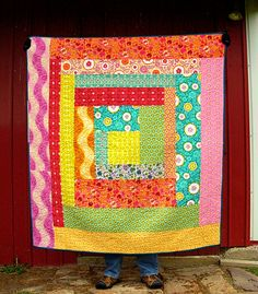 one large log cabin block...this would be a great quilt as you go project