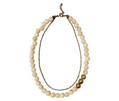 Gold 24K tagua pearls unique necklace  Handmade in by shopandes