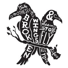 """""""Blackbirds"""" Character-Type Wall Decal"""