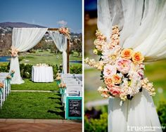 An outdoor wedding is a great option that lends itself to a wide variety of possibilities with beautiful nature as a backdrop for a romantic ceremony and reception. Description from weddingsromantique.com. I searched for this on bing.com/images