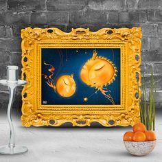 Cosmic Courtship  Surreal Fine Art Print by OsvaldoGonzalezArt