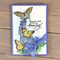 #Cre8time for watercolor butterflies and say you're amazing! #Stampendous #Lilacs #butterflies