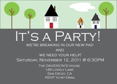House Warming Party Invitation by ChristineBlackburn on Etsy, $8.00