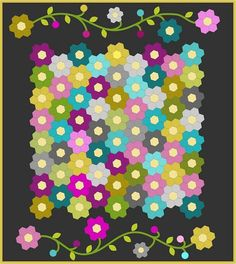lilly belle quilt a long by ImAGingerMonkey, via Flickr| paper pieced hexagons.
