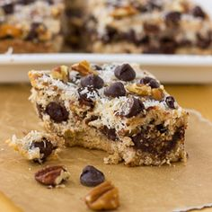 Grain-Free Magic Cookie Bars (Paleo) #paleo