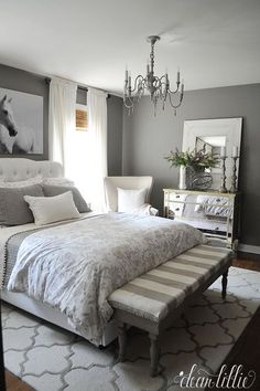 Gray and White Bedroom Ideas, Turquoise and Gray Bedroom Ideas, Gray Headboard… – toptrendpin. Wood Bedroom, Gray Bedroom, Trendy Bedroom, Modern Bedroom, Bedroom Furniture, Bedroom Decor, Bedroom Ideas, Bedroom Curtains, Bedroom Inspiration