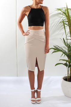 Urban Plan Skirt Nude