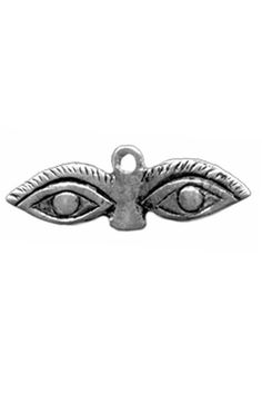 A sterling silver eye milagro pendant. Milagros, meaning miracles in Spanish, are religious folk charms found in many areas of Latin America and Southern United States. They are used to seek help or p
