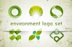 A set of 6 environmental logo. Those green friendly environment logos are perfect to get inspired in your logo creation project....