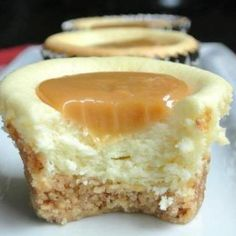 Caramel Cheesecake Bites - w/glutton free graham crackers?- wonder if I can turn this Vegan.