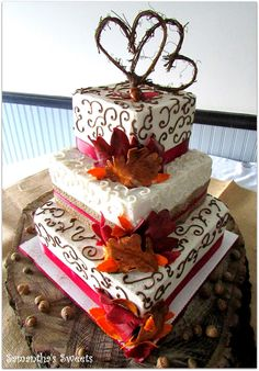 Samantha's Sweets: Fall Inspired Wedding Cakes