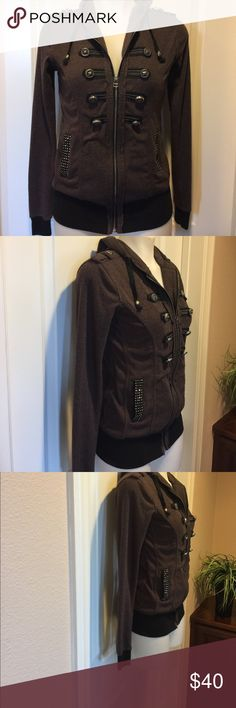 Miss Me Zip Up Hoodie🌟 Miss Zip Up Hoodie in excellent condition, lots of detail, thanks for looking 😊 Miss Me Tops Sweatshirts & Hoodies