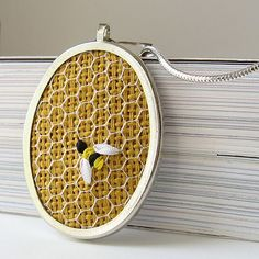 How cute is this silk ribbon embroidery piece by bstudio?