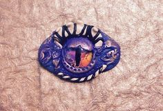 Medieval Dragon Eye Purple With Horns by DazzleEyes on Etsy