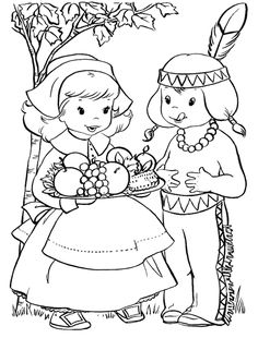 fun thanksgiving coloring pages