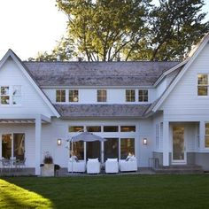 """siding, outdoor space, windows """"Arctic White"""" -- house siding color.  James Hardie"""