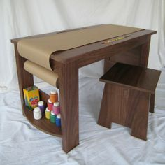 Childrens desk, for homework and arts & crafts -- EPIC! [Click image to view more]
