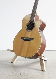 Stol Acoustic Guitar stand in solid Ash by Hudson Valley Hard Goods