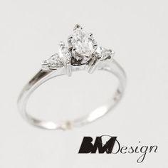 Diamenty Rzeszów Diamenty na zamówienie Pierścionki na zamówienie Pierścionek zaręczynowy z diamentami  Rzeszów Diamond ring BM Design